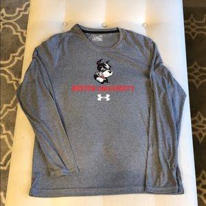 Boston University l/s grey men's  under armour LG